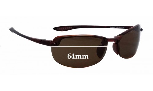 Maui Jim Sport Makaha H-805 Replacement Sunglass Lenses - 64mm wide