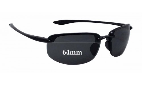 Sunglass Fix Replacement Lenses for Maui Jim Sport Ho'okipa G-807 - 64mm wide