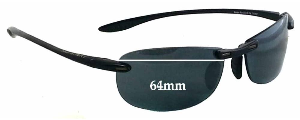 Maui Jim Sport Makaha RX MJ905 Replacement Sunglass Lenses - 64mm Wide
