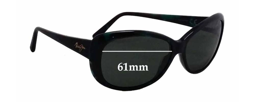 Maui Jim Pikake MJ290 Replacement Sunglass Lenses - 61mm wide