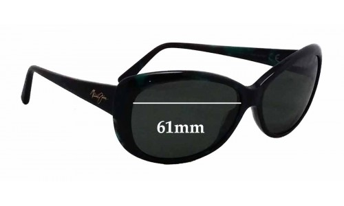 Maui Jim Pikake MJ290 Replacement Sunglass Lenses - 61mm wide