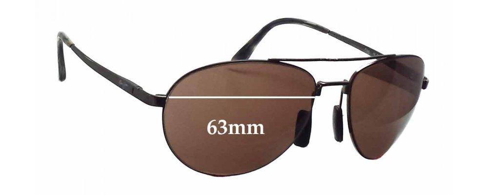 Maui Jim Pilot MJ210 Replacement Sunglass Lenses - 63mm wide