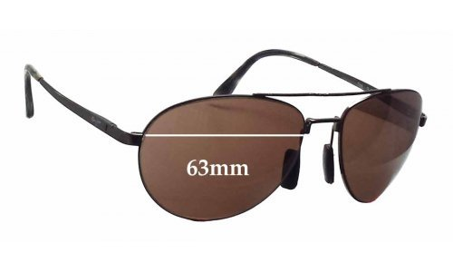 Maui Jim Pilot MJ210 Replacement Sunglass Lenses - 63mm wide
