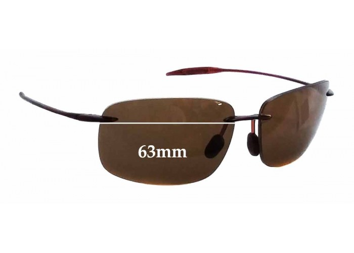 SFX Replacement Sunglass Lenses fits Maui Jim MJ503 Wailea 53mm Wide