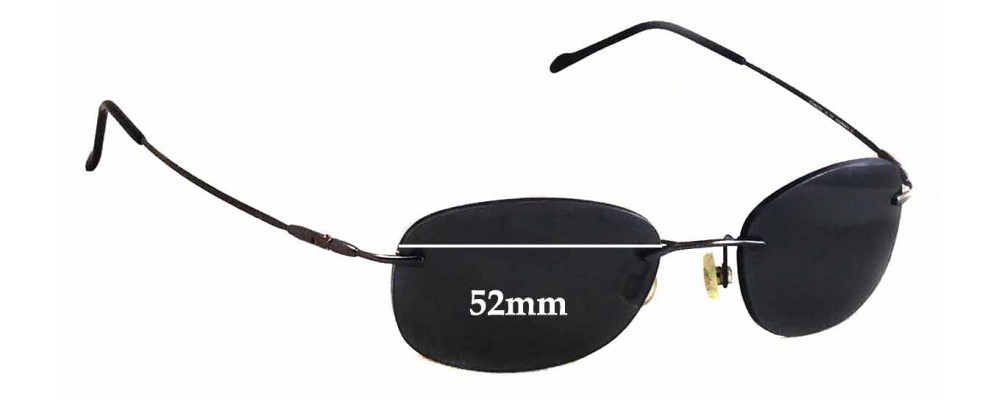 Maui Jim MJ452 Waikiki Replacement Sunglass Lenses - 52mm Wide
