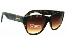 Sunglass Fix New Replacement Lenses for Mimco Unknown Model - 57mm Wide