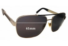 Sunglass Fix New Replacement Lenses for Montblanc MB 463S - 61mm Wide