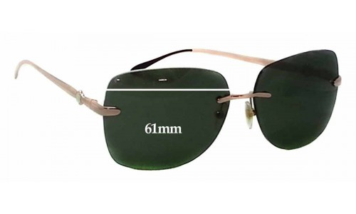 Montblanc MB 354S Replacement Sunglass Lenses - 61mm wide