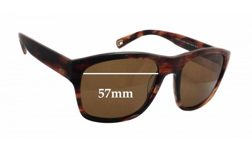 Sunglass Fix Replacement Lenses for Mosley Tribes MT6030-S Carden - 57mm wide x 45mm tall