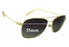 Sunglass Fix New Replacement Lenses for Mosley Tribes Santino - 55mm Wide