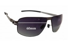 Mykita Rufus Replacement Sunglass Lenses - 60mm wide - 43mm tall. These need to be made in Lab, Ultimate Polarised Not Available