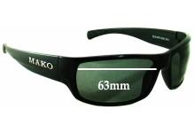 Mako Escape 9581 Replacement Sunglass Lenses - 63mm wide
