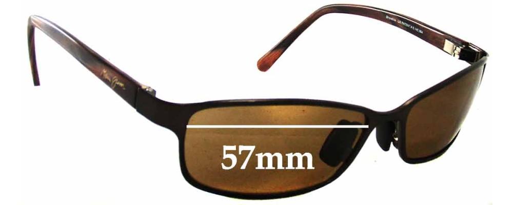 Maui Jim MJ114 Shoreline Replacement Sunglass Lenses - 57mm Wide