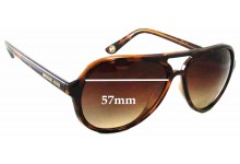 Michael Kors M2811S Caicos Replacement Sunglass Lenses - 57mm lens width