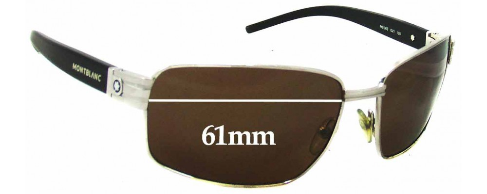 Montblanc MB 36S Replacement Sunglass Lenses 61mm wide