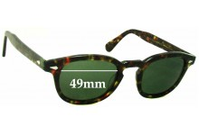 Moscot Lemtosh Large Replacement Sunglass Lenses - 49mm wide