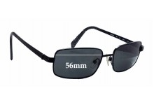 Nautica N5034SRX Replacement Sunglass Lenses - 56mm wide