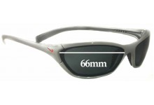 Nike Interchange Square Replacement Sunglass Lenses - 66 mm wide