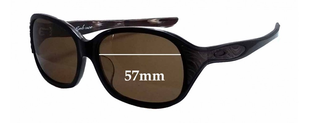 Oakley A Embrace (Asian Fit) Replacement Sunglass Lenses - 57mm wide x 45mm tall