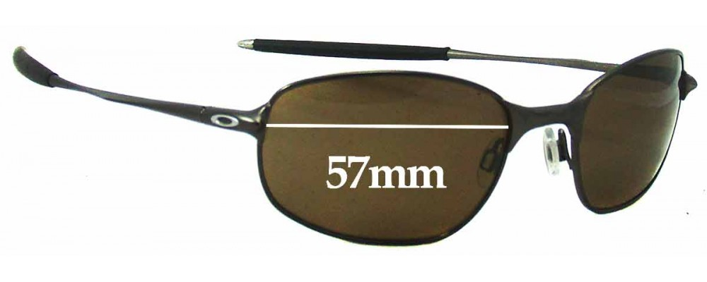 Oakley Big Square Wire Replacement Sunglass Lenses - 57mm Wide