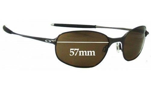 Sunglass Fix Replacement Lenses for Oakley Big Square Wire - 57mm Wide