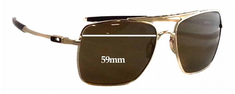 Oakley Deviation OO4061 Replacement Sunglass Lenses - 59mm wide