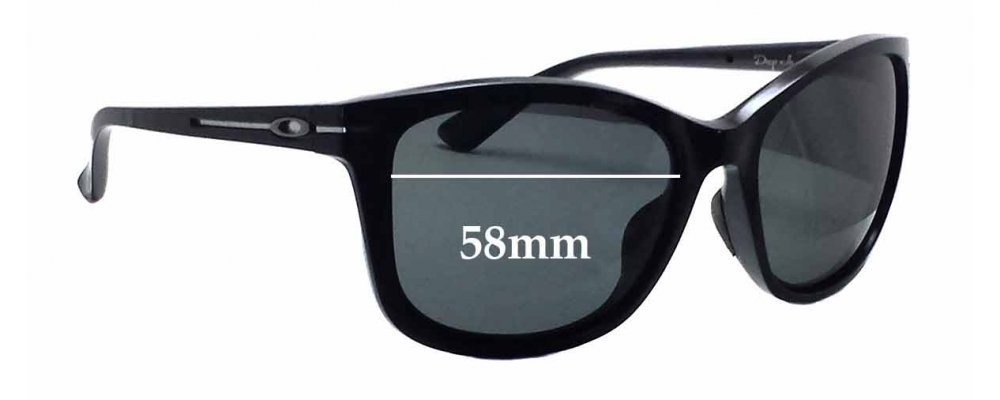 Oakley Drop In OO9232 Replacement Sunglass Lenses - 58mm wide