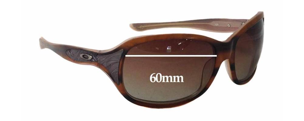 Oakley Embrace Replacement Sunglass Lenses - 60mm wide x 44mm tall