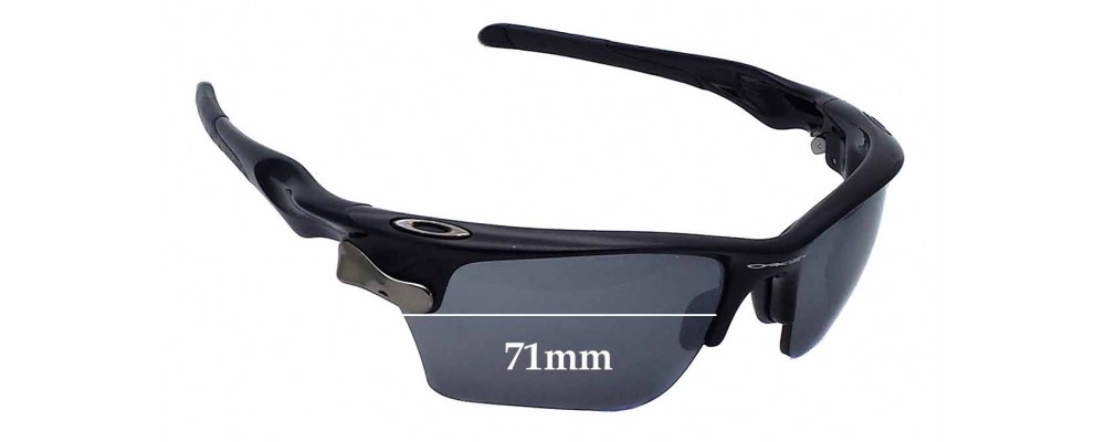 a6b55c327d Oakley Fast Jacket OO9156 Replacement Sunglass Lenses - 71mm wide