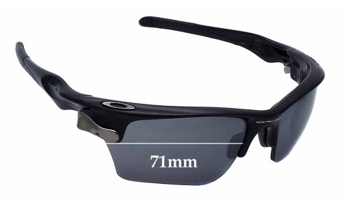 Oakley Fast Jacket OO9156 Replacement Sunglass Lenses - 71mm wide
