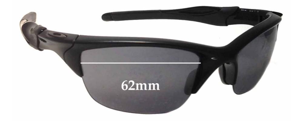 Oakley Half Jacket 2.0 OO9144 Replacement Sunglass Lenses 62mm wide