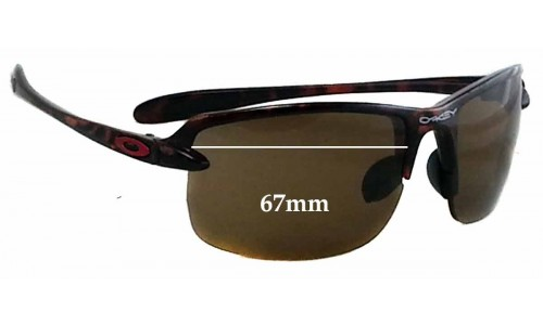 Oakley Ice Pick Sunglass Replacement Lenses - 67mm wide **Please measure as there is a smaller version. This version does not have a screw for the nose area**