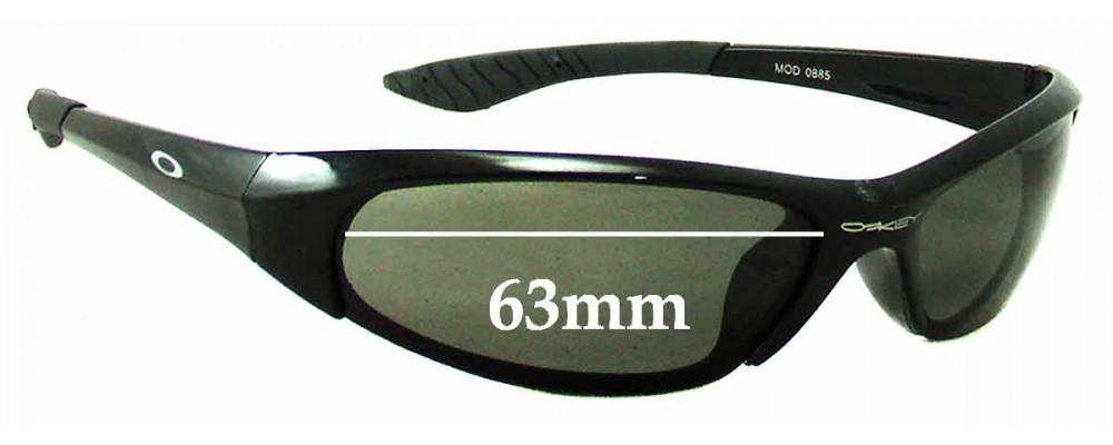 Oakley Mod 0885 Replacement Sunglass Lenses - 63mm Wide