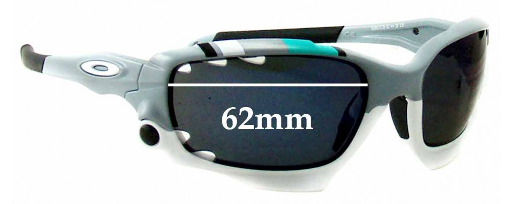 Oakley New Racing Jacket Replacement Sunglass Lenses - Vented Lenses - 62mm Wide