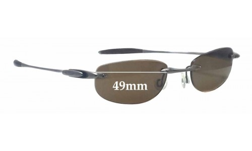 Oakley Rimless Replacement Sunglass Lenses - 49mm wide x 25mm tall