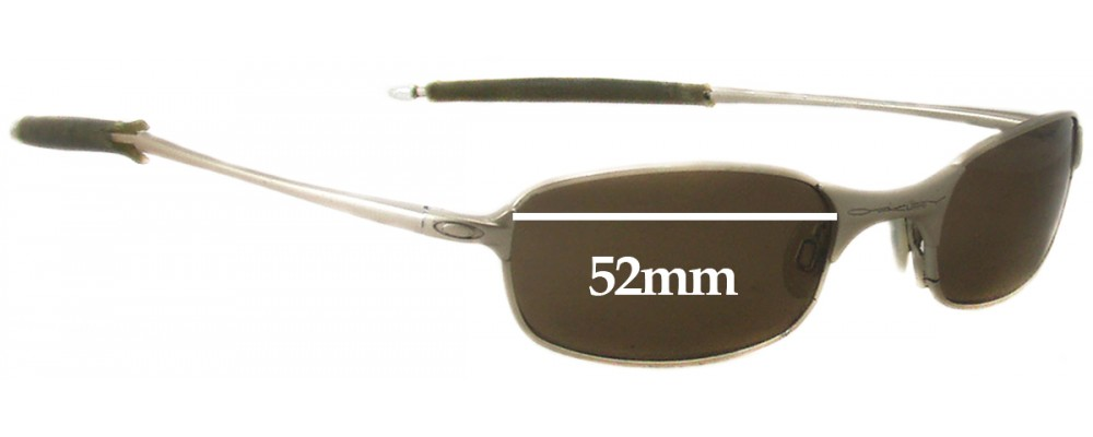 Oakley T Wire 2.0 Replacement Sunglass Lenses - 52mm Wide