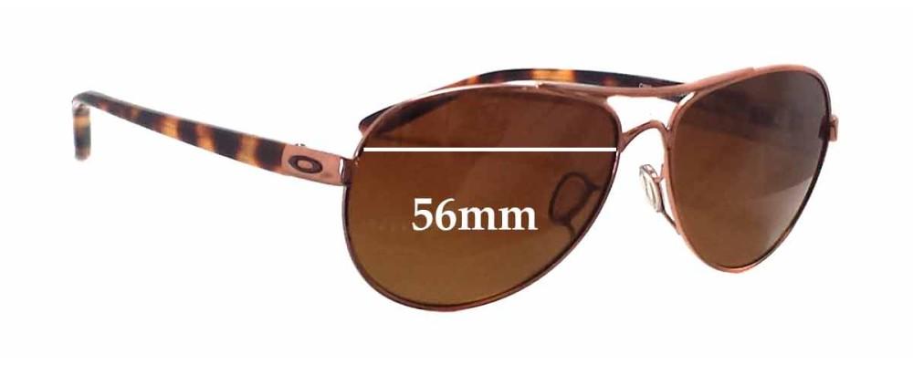 Oakley OO4108 Tie Breaker Replacement Sunglass Lenses - 56mm wide