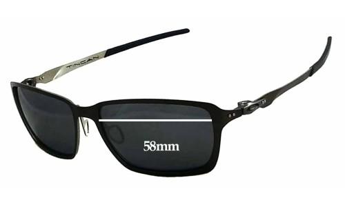 Oakley Tincan OO4082 Replacement Sunglass Lenses - 58mm wide