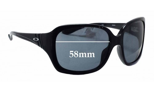 Oakley Unfaithful OO2029 Replacement Sunglass Lenses - 58mm wide
