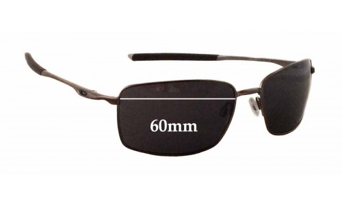 Oakley OO4075 W Square Wire Replacement Sunglass Lenses - 60mm Wide