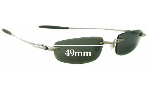 Sunglass Fix Replacement Lenses for Oakley Why 3 - 49mm Wide