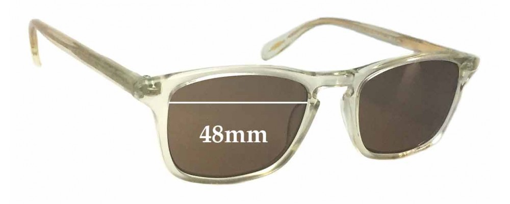 9b3e2ee26a Oliver Peoples Larrabee OV5005 Replacement Sunglass Lenses - 48mm wide
