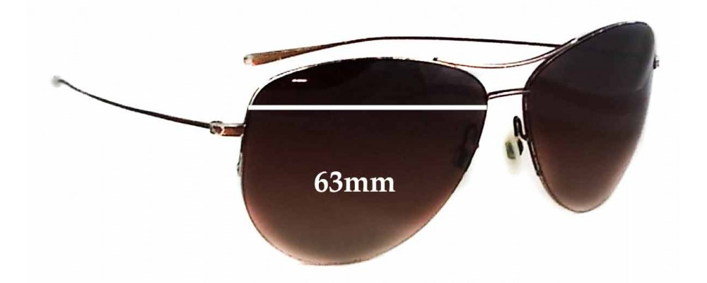 8a7c050b9a44d Sunglass Fix Replacement Lenses for Oliver Peoples Strummer 1004S - 63mm  wide