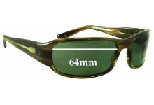 Oliver Peoples Zed Replacement Sunglass Lenses - 64mm wide