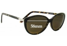 Sunglass Fix New Replacement Lenses for Oroton Acapulco - 58mm Wide