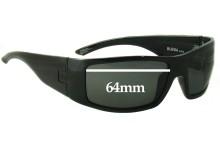 Otis Bubba Replacement Sunglass Lenses - 64mm wide Newer Version
