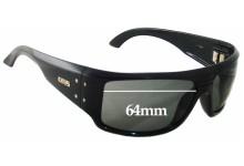 Otis Kingpin Replacement Sunglass Lenses- 64mm wide