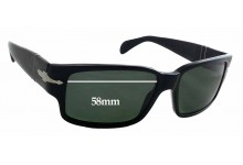 Persol 3048S Replacement Sunglass Lenses - 58mm wide x 37mm tall