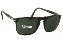 Persol 3059-S Replacement Sunglass Lenses - 54mm Wide