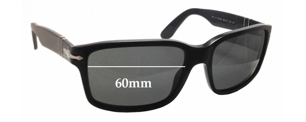0697b0dbb9 Persol 3067-S Replacement Sunglass Lenses - 60mm wide